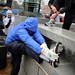 A runner prepares for the 2011 Krispy Kreme Challenge.