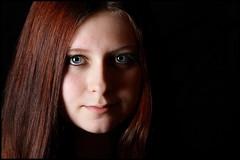 Kia (Beccy Melling) Tags: light shadow portrait black girl face contrast canon studio eos eyes dramatic headshot teenager monalisasmile softbox contour studioportrait teenage filmnoir sidelighting sidelit studiolights 450d beccymelling