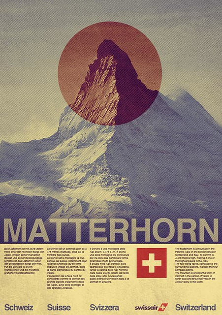 swissair travel poster