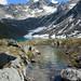 Natural Hot Tub at Upper Reed Lake. Talkeetna Mountains, Alaska.