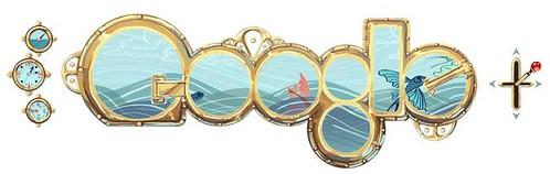 Doodle dedicado a Julio Verne