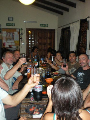 Dinner with the Salta hostel peeps
