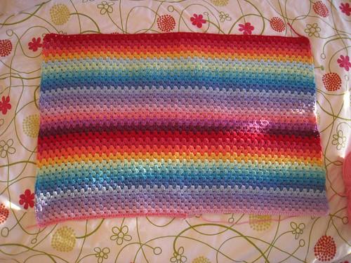 Baby Granny Stripe Blanket