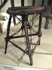 Sealing Stool (Travis S.) Tags: wood chicago museum illinois seat fieldmuseum inuit stool artifact lashing sealskin sealingstool sealskinline
