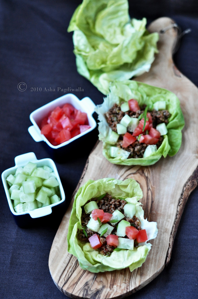 REd Curry Beef lettuce wraps1