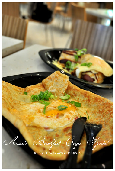 The Crepe Cafe Queen Street Mall Brisbane: Aussie Breakfast Crepe Special