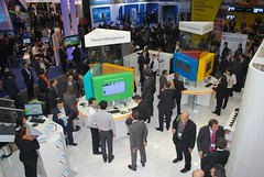 Overhead view of the Gemalto booth at MWC 2011