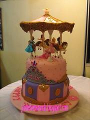 Disney Princess Carousel birthday cake (Jcakehomemade) Tags: birthday pink tiara belle law cinderella snowwhite sleepingbeauty princesscake liews partycake noveltycake tiaracake carouselcake girlsbirthdaycake childrenbirthdaycake jcakehomemadeblogspotcom customemadecake disneyprincessbirthdaycake disneyprincesscarouselbirthdaycake cakekelly cakejessica gold3rd