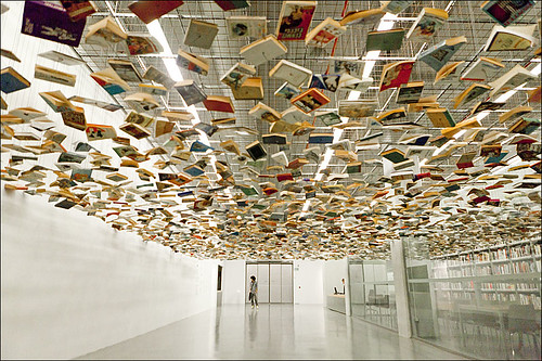 Suspended books by hanifoto