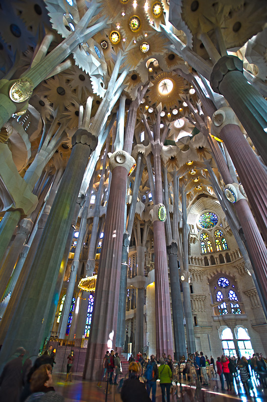 Interior of the Sagrada Familia