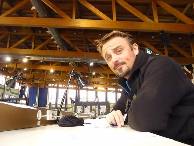 Ich im Pressezentrum