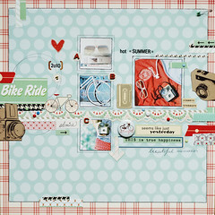summer 'must have' kit (ania-maria) Tags: camera summer bike bicycle vintage scrapbooking glasses ride kodak favourites kit scrap ils ilowescrap aniamaria