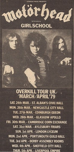 03/24/79 - 04/13/79 Motorhead/Girlschool Tour Ad (Top)