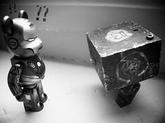 Iron Man vs WWRp Square (Fuuuuuunk) Tags: bear wood original man black art japan square toy tokyo iron 21 squares ashley fake 3a series 20 kaws medic lunar colette olsen bearbrick berbrick ber toyz medicom dissected artoyz 3aa artoy artoys