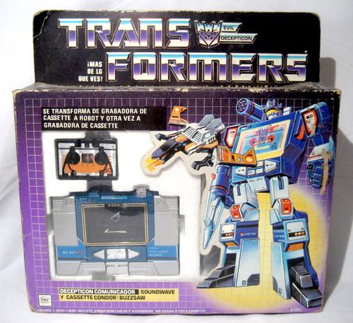 Transformers G1 Soundwave buzzsaw Vintage toy on box IGA