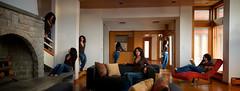 On the gathering of guests (Terretta) Tags: panorama feet photoshop aperture nikon dof doubleexposure bare pano multiplicity depthoffield jeans barefoot barefeet nik d3 hmw gigapixel a52 brenizer dfine colorefex viveza bokerama bokehpanorama brenizermethod