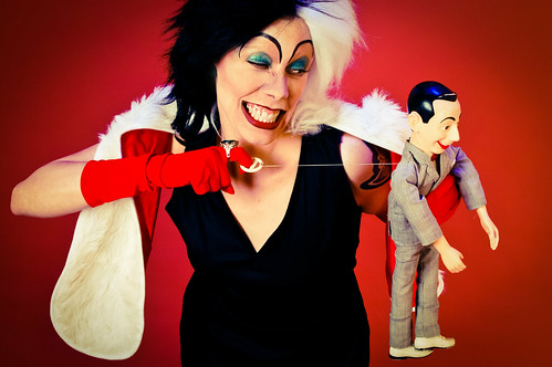 Cruella de Vil and Pee Wee Herman by verkstad