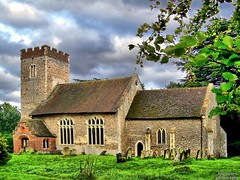 St.Mary Magdalene, Little Whelnetham (2) (dogmarten28) Tags: tower church graveyard suffolk village cross small tombstone nave hilltop blueribbonwinner littlewhelnetham dogmarten28