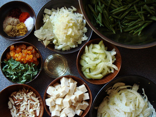 Feisty Green Beans: What A Mise En Place