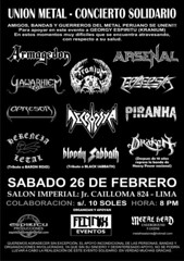 Concierto Solidario Unión Metal - Salón Imperial