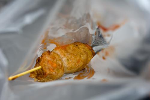吃起來味道普普, 就是普通的雜肉腸