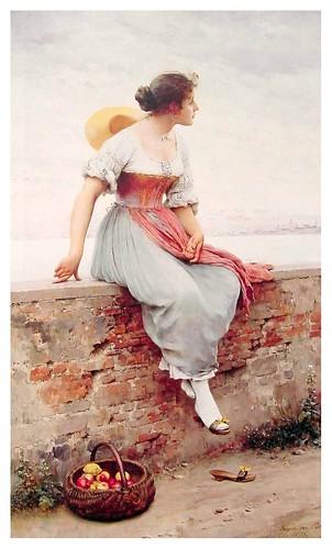 012-Un momento pensativo-Eugene de Blaas 1896