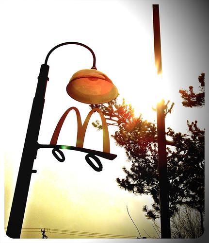 McDonald's street lamp