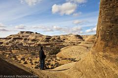 Watching the Spire (IntrepidXJ) Tags: people utah desert moab rockformation coloradoplateau adventr secretspire bogley randylangstraat