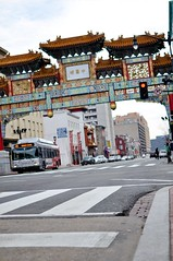 Chinatown Welcome (inetnasshadow) Tags: city morning winter urban dc chintown