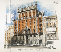 Mlaga, Taillefer building (Luis_Ruiz) Tags: building architecture sketch drawing alameda malaga mlaga taillefer urbansketchers