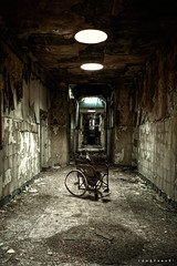 Wheelchair in asylum D ([AndreasS]) Tags: old uk england urban texture abandoned wales canon hospital dark eos crazy still chair peeling paint place post decay room exploring grunge wheelchair wheels north neglected rusty sigma nuclear eerie creepy forbidden ill fallen disaster sit end trespass horror 5d inside exploration sick lunatic asylum derelict 1224mm hdr decayed hdri apocalyptic illness urbex denbigh downlight forlatt forfall psyciatric nedlagt mrnorue