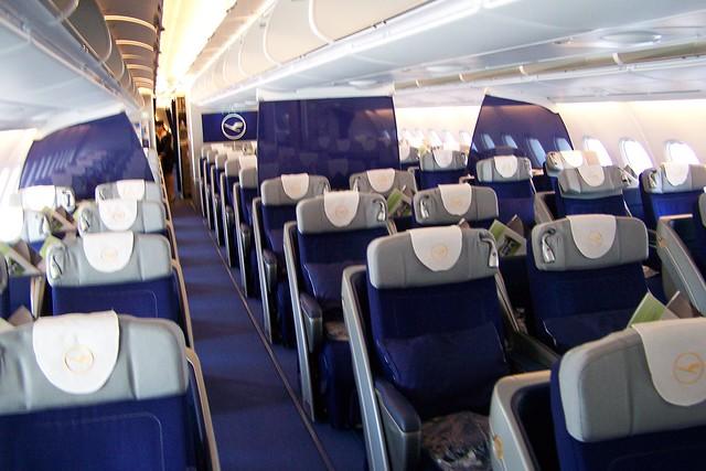 Lufthansa A380 Business Class Cabin