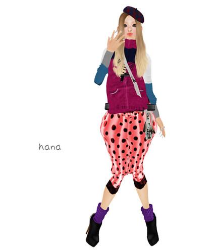 .::M*G*S::. Sarrouel Pants Dot salmon pink (LB)