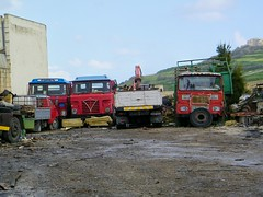 An interesting yard (Renown) Tags: guy malta lorry trucks maltese scrap breaker trucking gozo withdrawn lorries foden haulage gozitan bigj
