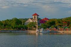 Baclayon Church (Mr. FRANTaStiK) Tags: sea port landscape pier seaside philippines belltower belfry wharf bohol campanario baclayonchurch pantalan fongetz francistan baclayontown