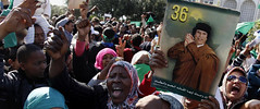Libyans demonstrate in support of the government opposing the imperialist plot to destabilize the North African oil-rich state. The Obama administration is attempting engineer regime-change in this country that served as chair of the African Union. by Pan-African News Wire File Photos