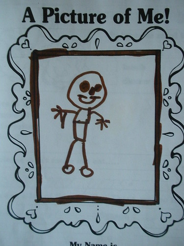 Preschool Art = Picture of Me