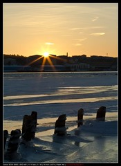 Sunset over the forgotten docks (rynde) Tags: winter sunset ice picnik thechallengefactory