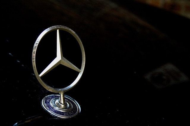 black canon emblem mercedes benz german cclass xti