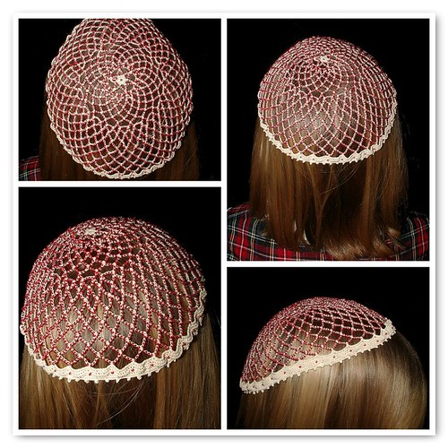 Beaded lace hat