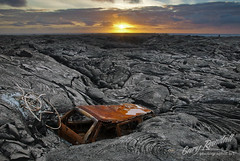 Dawn of Destruction (Gary Randall) Tags: morning sunrise volkswagen kalapana volcano hawaii lava kilauea puna vwbus dsc12132 mikeandmel garyrandall mikemelwed