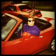 Me at thirty-one. Obliviously going through a mid-life crisis. My coworkers called this the Barbie Ferrari. by ObieVIP