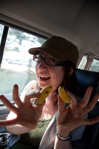 Sadie + Mini Bananas = <3