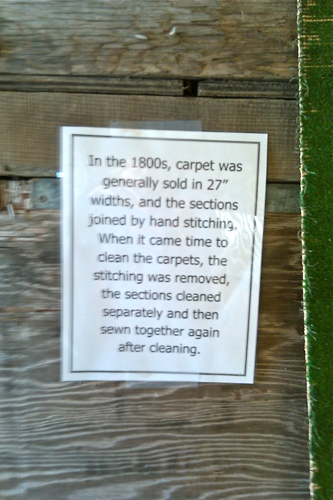 How carpet was sold in the 1800's