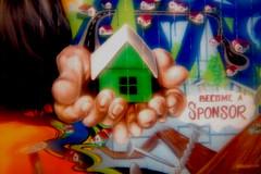 Green Home (geminitwincam) Tags: camera las vegas lens time holgaesque