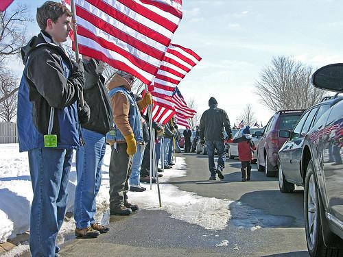 volunteers of the Patriot Guard Riders club