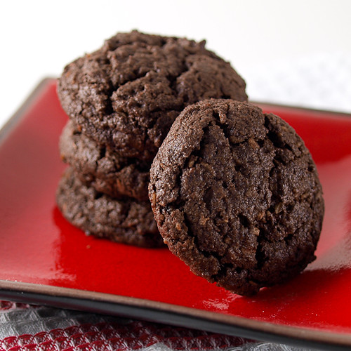 Double Dark Chocolate Chunk Coconut Cookies