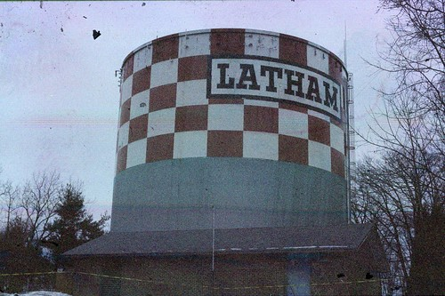 Latham Water Tower, Polachrome film - edited with Picnik