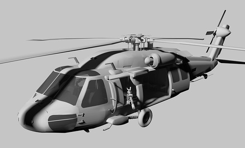 MH60J Black Hawk (clay render) by the other Martin Taylor