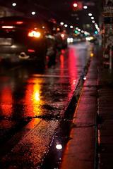 """L""ights (mcdux) Tags: light red toronto car rain night bokeh odc"